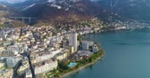 leman : Aerial view of montreux