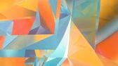Abstract geometric polygonal motion background. Video corporate looped animation. 3d rendering. 4K, Ultra HD resolution.