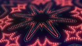 Animation of color led particles shapes. Abstract kaleidoscopic VJ motion background. 3d rendering. 4K, UHD resolution