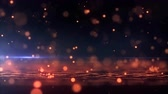 Abstract background with animation falling glittering particles as festive rain. 4K, Ultra HD resolution Стоковые видеозаписи