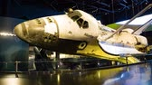spacecraft : KENNEDY SPACE CENTER, FLORIDA, USA - JAN 03, 2017: Space Shuttle Atlantis which is exhibited at the visitor complex of Kennedy Space Center, United States Stock Footage