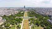 la defense : PARIS FRANCE, JUNE 14, 2017: Aerial view of Paris Skyline from Eiffel Tower