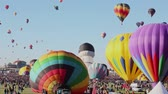 float : Albuquerque, NM - October 5, 2013 -Hot air baloons at the annual Albuquerque Balloon Fiesta. Stock Footage