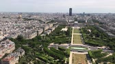 praça : Paris, France - JUNE 14, 2017: Aerial view of Paris Skyline from Eiffel Tower in Paris, France