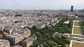 la defense : Paris, France - JUNE 14, 2017: Aerial view of Paris Skyline from Eiffel Tower in Paris, France