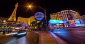 despir : Las Vegas, USA - January 02, 2018: Time lapse traffic night on Las Vegas strip