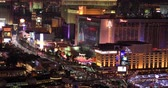 las vegas strip : LAS VEGAS, NEVADA - JANUARY 02, 2018: Las Vegas strip night view from hotels balcony Stock Footage