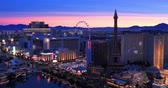 week end : Las Vegas, USA - January 02, 2018:: Las Vegas strip on sunrise Stock Footage