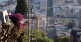 sf : Close-up view on hilly streets in San Francisco in the morning