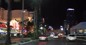 las vegas strip : Las Vegas, USA - January 02, 2018: Traffic and neon lights on Las Vegas Strip at night