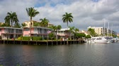 Yacht and luxurious waterfront home at Fort Lauderdale, Florida