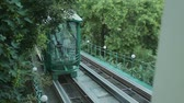 inclinado : Funicular in Odessa Stock Footage