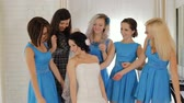 admirado : Donetsk, Ukraine - October 11, 2011: bridesmaids admired bride Stock Footage