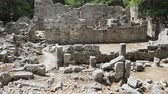 coluna : Ruins of public baths in ancient Phaselis city. Antalya province, Turkey.