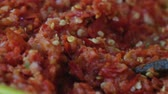 preparation clip : Blended chili paste.