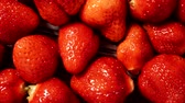 morango : Fresh strawberry fruits as food background 4K