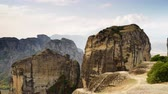 montanhas rochosas : Cliffs rocky formations in Greece Meteora