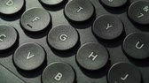 anahtar : Black computer keyboard detail closeup Stok Video