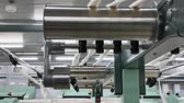 Machinery and equipment in the workshop for the production of thread. Roller mechanism in textile factory. Wideo