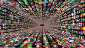 union : Tunnel of World Flags, loop Stock Footage