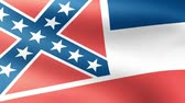 union : Mississippi State Flag Waving