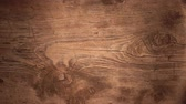 brilho : Decrease lighting wooden texture with natural wood pattern Vídeos