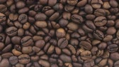 gourmet : Horizontal panorama of coffee beans, food background.