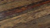weathered : Real old wood texture, vintage dark background. Camera moves from left to right. Stock Footage