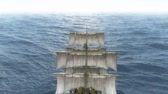 stary : old ship in sea Wideo
