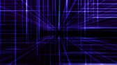 spektrum : 3d line neon cube in space