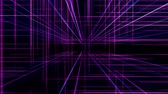 spectrum : 3d line neon cube in space