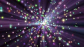stars particle color explosion ray in space