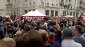 objection : RUSSIA, MOSCOW - JUNE 12, 2017: Rally Against Corruption Organized by Navalny on Tverskaya Street. The crowd booed the outgoing police