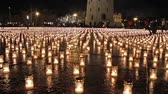 light : candles on the cathedral square, Vilnius, Lithuania