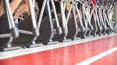 treadmill : A Lot of People Are Engaged on Treadmills in Gym. Stock Footage