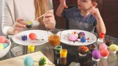 Family prepares for holiday. Easter and happy moments concept.