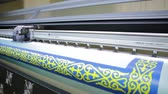 printshop : Printer is working,Production technology in the printing