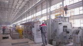 製鉄所 : plant for the production of steel products 動画素材