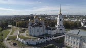 Flying over the Assumption Cathedral in Vladimir.