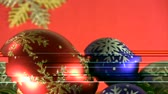 Burning candle and coloured balls in basket and snow flake ornaments traditional Christmas and New Year Eve decoration.  Vídeos