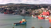 ST. JOHN'S – OCTOBER 13: St. John's, Newfoundland, Canada on October 13, 2013. Town of St. John's prepares for next day Celebration Thanksgiving. Returning for holiday Anchor Handling Tug Supply Ship.