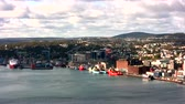ST. JOHNS - OCTOBER 13: St. Johns, Newfoundland, Canada on October 13, 2013. Harbor and Town of St. John's are ready for Celebration Thanksgiving on next day. Ships and Cars Traffic are very low.