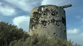 millsime : The ruins of the old windmill, Therasia, Greece.