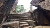신성한 : Anuradhapura, Sri Lanka, stone steps of stairs 4K