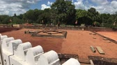 слон : Anuradhapura, Sri Lanka, view of fence and posts near Dagoba 4K