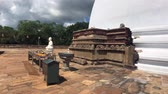 スリ·ランカ : Anuradhapura, Sri Lanka, side view of the little Buddha 4K
