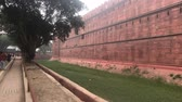 krottenwijk : New Delhi, India, November 11, 2019, the main outer wall of the red fort 4K