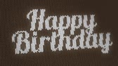 Sweater texture animation, Happy Birthday greeting card.
