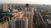 dálnice : Panning shoot: Aerial view over condominium and the road to upcountry , Live in Bangkok, Thailand Dostupné videozáznamy