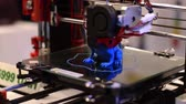 technician : 3D Printer Printing Plastic Parts Stock Footage